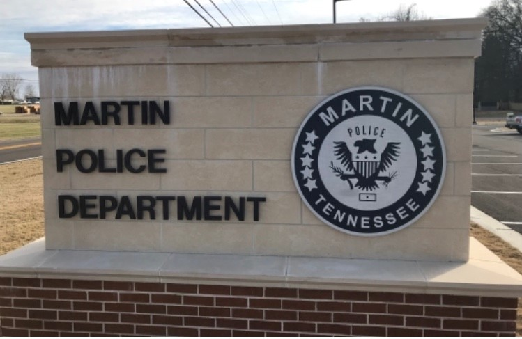 Martin Police Department Sign